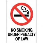 No Smoking safety sign - No Smoking Under 025